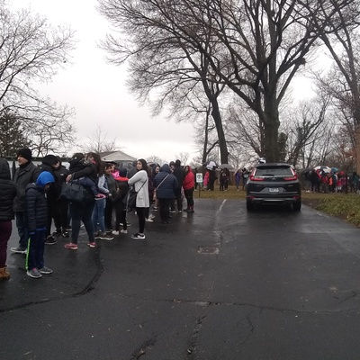 Line for our annual Winter Wonderland-Toys donation event